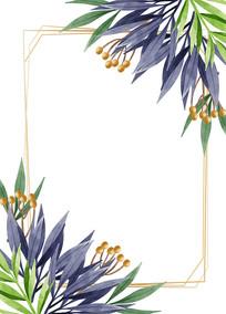 矢量花纹边框素材