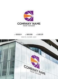 D字母数字传媒创意标志设计
