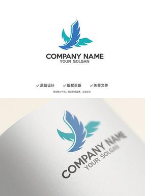飞翔翅膀创意标志设计
