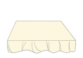 原创手绘小清新餐桌桌面桌布餐布插画