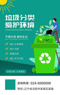手绘创意垃圾分类公益宣传海报设计