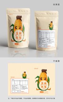 原创可爱玉米爆米花包装