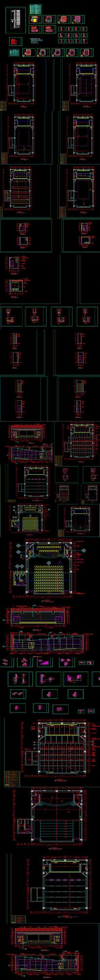 报告厅声学设计装修CAD图