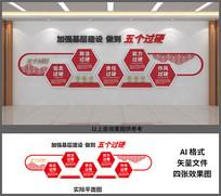 加强基层建设做到五个过硬文化墙设计