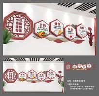 节约粮食餐厅文化墙设计