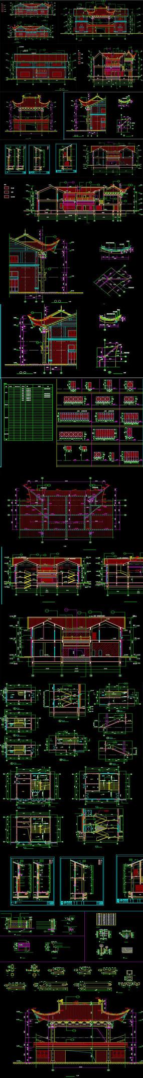 两层古典风格框架结构CAD图纸