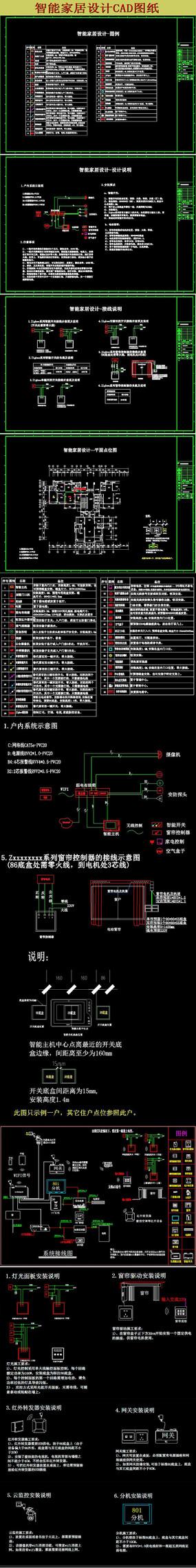 智能家居CAD设计图