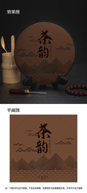 中国风茶饼包装