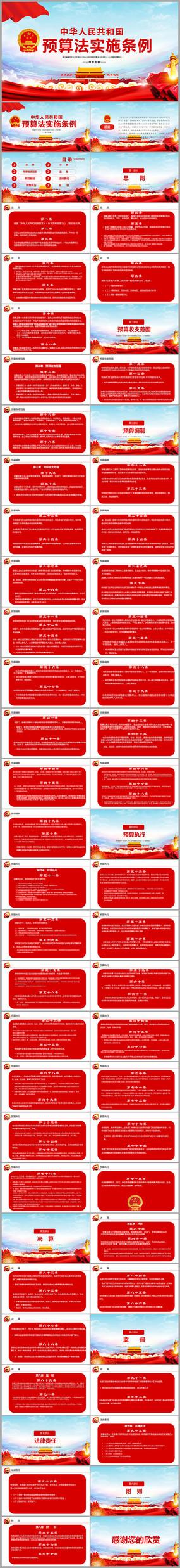 中华人民共和国预算法实施条例PPT