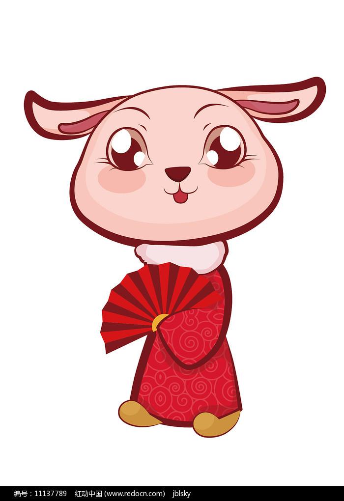 吉祥新年小兔子卡通形象设计