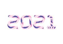 原创2020数字字体设计