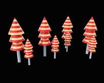 原创彩色小树模型