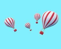 原创热气球模型