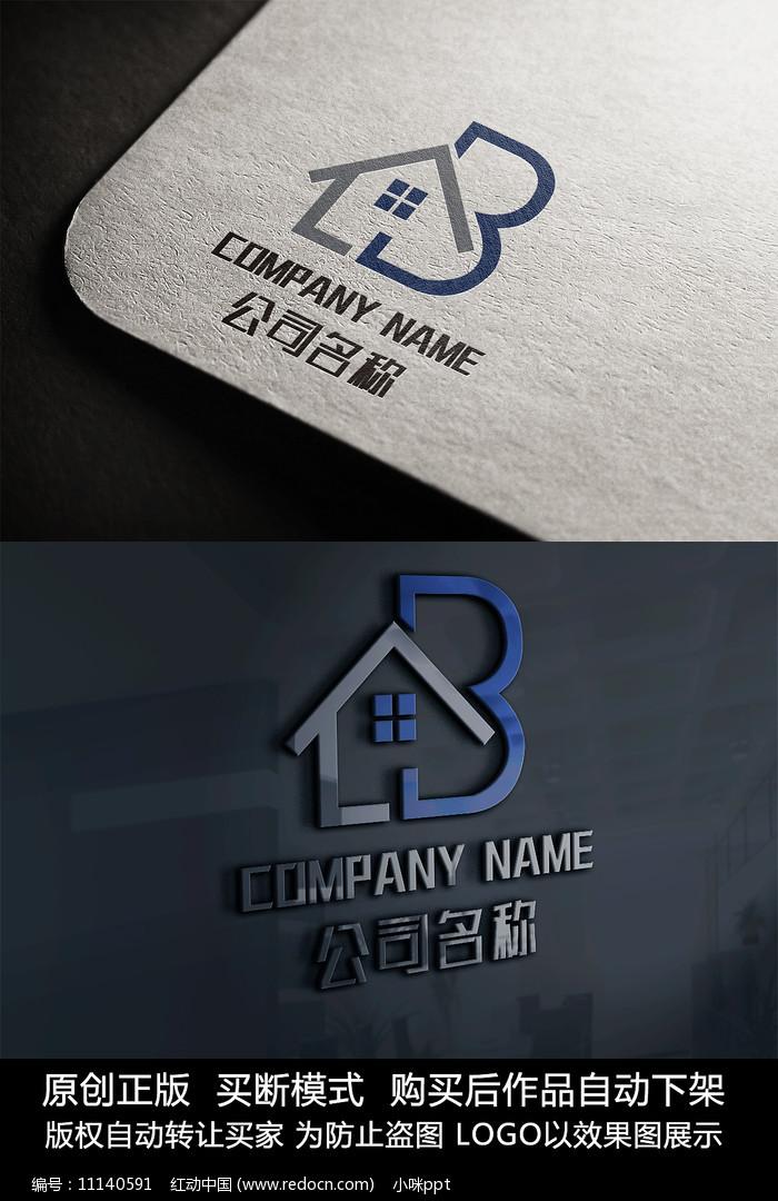 房子logo标志房地产商标设计图片