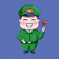 陆军人物卡通