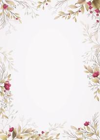 矢量花纹花圈边框素材