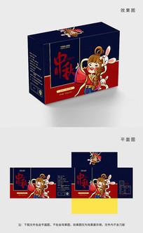 原创手绘传统中秋月饼包装