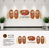 3D中式党建廉政文化墙