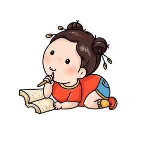 爱学习爱思考的小女孩