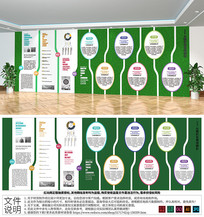 企业通用绿植文化墙