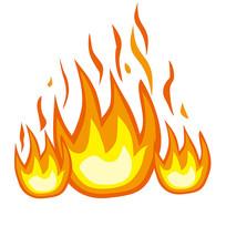 手绘火焰图形元素