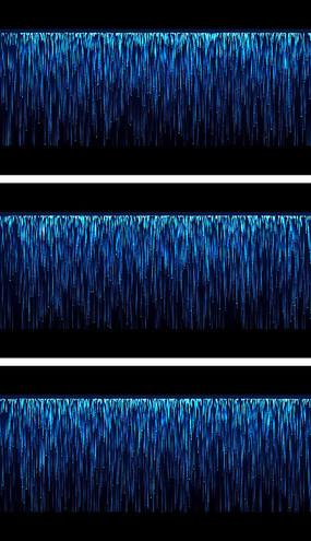 8K蓝色星幕粒子瀑布宽屏舞台背景视频素材