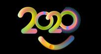 AI原创炫彩2020字体设计