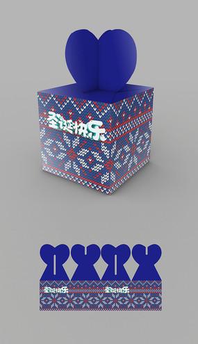 出口圣诞礼盒包装平面图