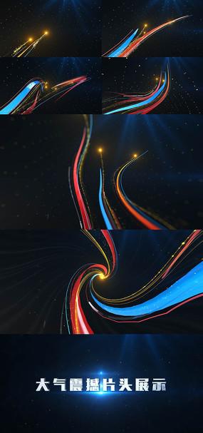 大气震撼片头企业LOGO演绎光线粒子视频模板