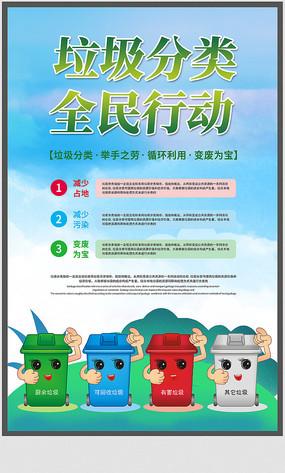 垃圾分類公益宣傳海報