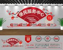 社区党建文化便民服务中心文化墙