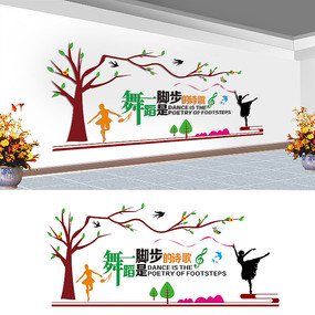 舞蹈宣传文化墙