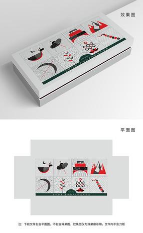 原创抽象藏族元素包装