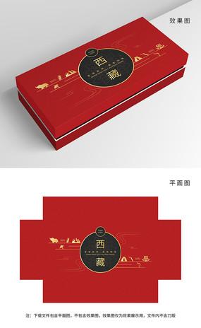 原創簡約紅黑藏族包裝
