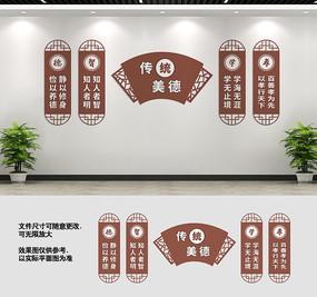 中华传统美德文化墙展板