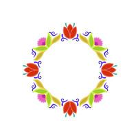 花朵圆环装饰图案