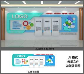 企业风彩文化墙设计