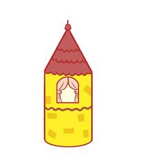 原创手绘小洋房房屋建筑卡通插画