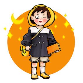 穿校服的学生形象设计