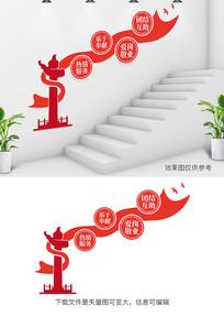 职业道德规范规楼梯党建宣传文化墙