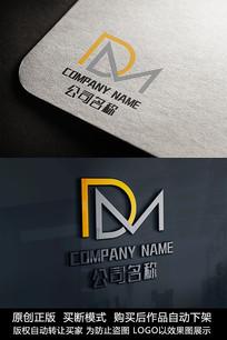 DM字母logo标志字母商标设计