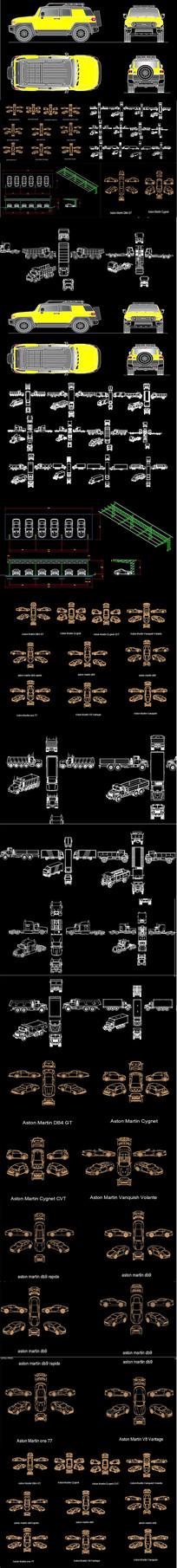 炫彩汽车CAD图库