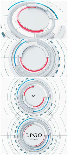 简洁干净科技片头logo视频模板