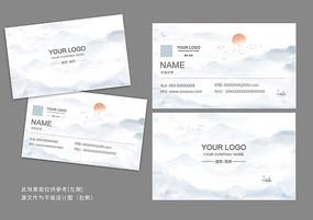 中国风建筑房产项目经理名片设计