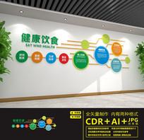 健康餐饮文化墙设计