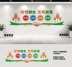 食堂文化墙宣传标语设计