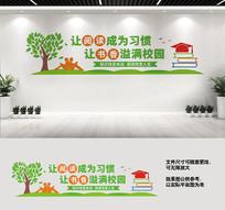 阅览室文化墙宣传标语设计