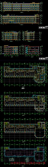 3层框架结构幼儿园报建CAD施工图