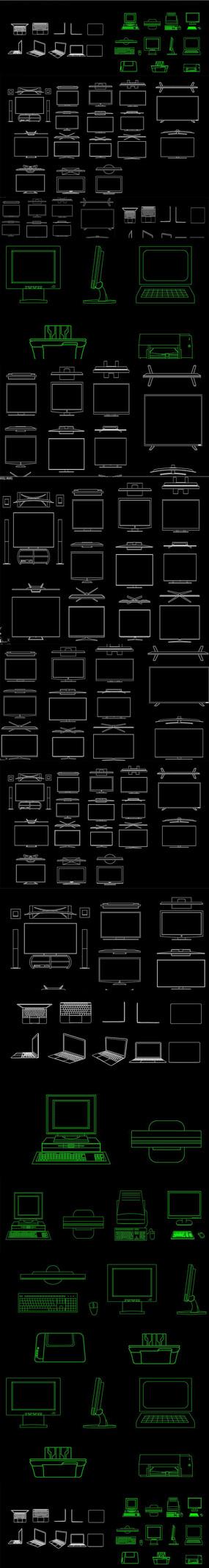电脑 数码产品CAD图库
