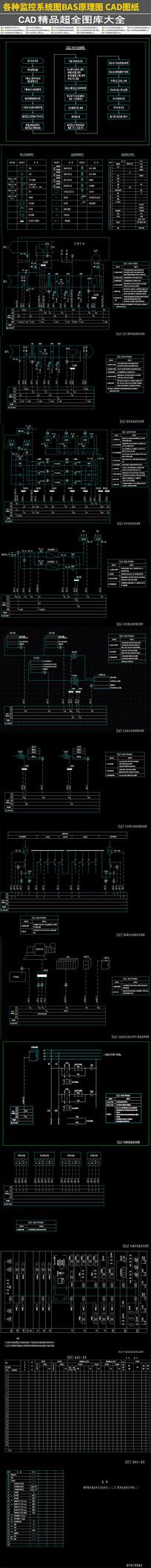 各种监控系统图BAS原理图CAD图纸
